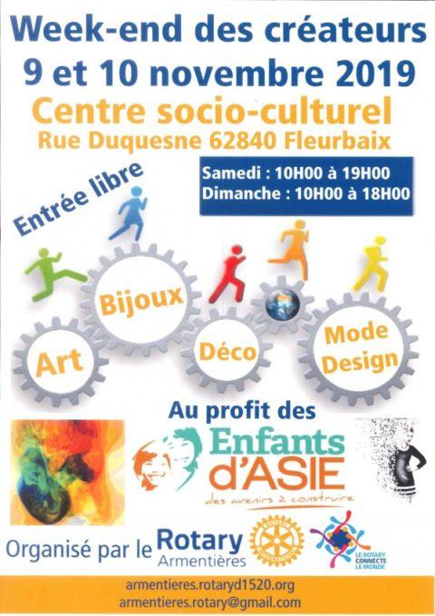 Weekend des créateurs à Fleurbaix 9-10 novembre